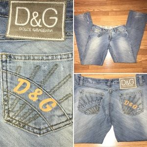 Dolce & Gabbana Distressed Light Wash Jeans 26